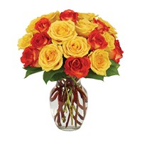 Yellow & orange rose bouquet from Ingallina's online gift shop
